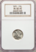 1925 10C MS66 Full Bands NGC. NGC Census: (18/5). PCGS Population: (71/31). CDN: $900 Whsle. Bid for NGC/PCGS MS66. Mint...