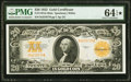 Large Size:Gold Certificates, Fr. 1187 $20 1922 Mule Gold Certificate PMG Choice Uncirculated 64 EPQ★ .. ...