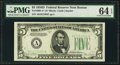 Small Size:Federal Reserve Notes, Fr. 1960-A* $5 1934D Federal Reserve Note. PMG Choice Uncirculated 64 EPQ.. ...