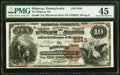 National Bank Notes:Pennsylvania, Ridgway, PA - $10 1882 Brown Back Fr. 490 The Ridgway National Bank Ch. # 5945 PMG Choice Extremely Fine 45.. ...