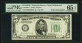 Small Size:Federal Reserve Notes, Fr. 1959-E $5 1934C Wide Mule Federal Reserve Note with Back Plate 637. PMG Gem Uncirculated 65 EPQ.. ...