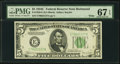Small Size:Federal Reserve Notes, Fr. 1959-E $5 1934C Wide Federal Reserve Note. PMG Superb Gem Unc 67 EPQ.. ...