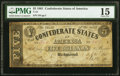 Confederate Notes:1861 Issues, T12 $5 1861 PF-1 Cr. 49 PMG Choice Fine 15.. ...