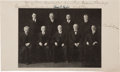 Autographs:Statesmen, Charles E. Hughes Supreme Court Photograph Signed By All Nine Justices....