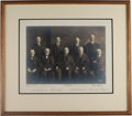 Autographs:Statesmen, White Supreme Court Photograph Signed by All Nine Justices....