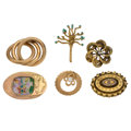 Estate Jewelry:Brooches - Pins, Diamond, Multi-Stone, Enamel, Gold Brooches. ... (Total: 6 Items)