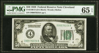 Fr. 2100-D $50 1928 Federal Reserve Note. PMG Gem Uncirculated 65 EPQ
