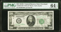 Small Size:Federal Reserve Notes, Fr. 2058-D* $20 1934D Wide Federal Reserve Note. PMG Choice Uncirculated 64 EPQ.. ...