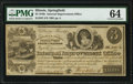 Springfield, IL- Internal Improvement Office $3 Aug. 15, 1840 PMG Choice Uncirculated 64