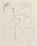 Prints & Multiples, Pablo Picasso (1881-1973). Modèle nu et sculptures, from La Suite Vollard, 1933. Etching on Montval laid paper, with...