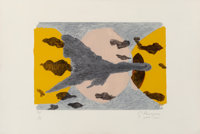 Georges Braque (1882-1963) Equinoxe, 1962 Lithograph in colors on Rives BFK paper 13-5/8 x 20-3/4 inches (34.6 x 52.7