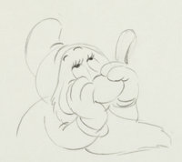 Snow White and the Seven Dwarfs Sleepy Animation Drawing (Walt Disney, 1937)