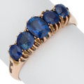 Estate Jewelry:Rings, Antique Burma Sapphire, Gold Ring. ...