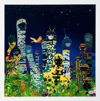 Chiho Aoshima (b. 1974) City Glow, 2005 Offset lithograph in colors on wove paper 33-3/4 x 33-3/4