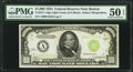 Fr. 2211-A $1,000 1934 Light Green Seal Federal Reserve Note. PMG About Uncirculated 50 EPQ