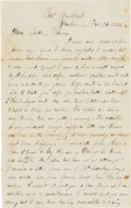 Autographs:Military Figures, Robert H. Crist, 21st Indiana Infantry, Autograph Letter Signed...