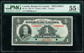 World Currency, Canada Bank of Canada $1 1935 Pick 39s BC-2S Specimen PMG About Uncirculated 55 EPQ.. ...