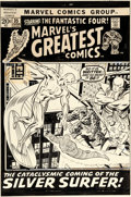 Original Comic Art:Covers, John Buscema and Joe Sinnott Marvel's Greatest Comics #35 Cover Fantastic Four and Silver Surfer Original Art (Mar...