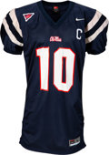 Football Collectibles:Uniforms, 2003 Eli Manning Game Worn Ole Miss Rebels Jersey....