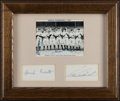 Autographs:Photos, 1937 New York Yankees Multi-Signed Display. Offer...