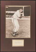Autographs:Index Cards, Stan Musial Signed Cut Display. Offered is a signe...