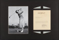 Autographs:Letters, Babe Zaharias Signed Letter Display. Offered is a ...