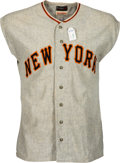 Baseball Collectibles:Uniforms, Circa 1954 Larry Jansen Game Worn New York Giants Jersey with Pants....