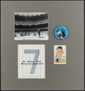 Autographs:Post Cards, Mickey Mantle Day Signed Display....