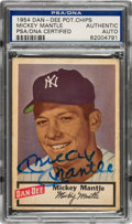 Autographs:Sports Cards, Signed 1954 Dan-Dee Potato Chips Mickey Mantle PSA/DNA Authentic. ...