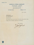 Baseball Collectibles:Others, 1936 Johnny Evers Signed Letter to Ford Frick. Th...