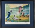 Autographs:Photos, Joe DiMaggio Signed Lithograph. Offered is an over...