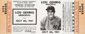 Baseball Collectibles:Tickets, 1941 Lou Gehrig Memorial Game Full Ticket Proof. O...