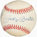 Autographs:Baseballs, Mickey Mantle, Duke Snider, Willie Mays Signed Baseball.