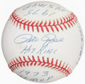 Autographs:Baseballs, Pete Rose Single Signed, Inscribed Baseball. Offer...