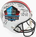 Autographs:Others, Multi-Signed Pro Football Hall of Fame Helmet. Of...
