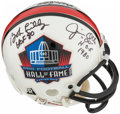 Autographs:Others, Multi-Signed Pro Football Hall of Fame Helmet. Off...