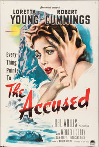"The Accused (Paramount, 1949). Folded, Fine. Trimmed One Sheet (27"" X 40.25""). Mystery"