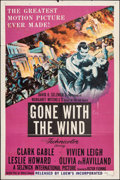 "Movie Posters:Academy Award Winners, Gone with the Wind (MGM, R-1954). Folded, Fine. One Sheet (27"" X 41""). Academy Award Winners.. ..."