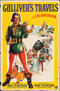 "Movie Posters:Animation, Gulliver's Travels (Paramount, 1939). Folded, Fine/Very Fine. One Sheet (27"" X 41""). Animation.. ..."