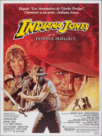 "Indiana Jones and the Temple of Doom (Cine Poster, 1984). Folded, Very Fine. French Commercial Grande (47"" X 63&quo..."