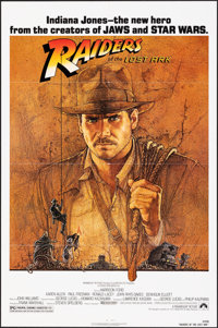 "Raiders of the Lost Ark (Paramount, 1981). Folded, Very Fine. One Sheet (27"" X 41""). Richard Amsel Artwork. Ad..."