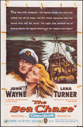 "Movie Posters:War, The Sea Chase (Warner Bros., 1955). Folded, Fine. One Sheet (27"" X 41""). War.. ..."