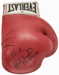 Boxing Collectibles:Autographs, Evander Holyfield Signed Boxing Glove. ...