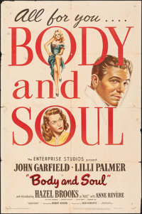 """Body and Soul (United Artists/Favorite Attractions, 1947/R-1953). Folded, Fine-. One Sheets (2) (27"""" X 41""""). F..."""