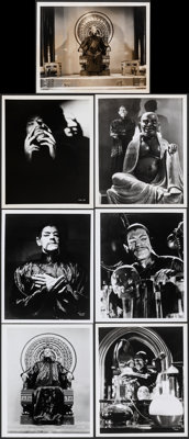 "Boris Karloff in The Mask of Fu Manchu (MGM, R-1950s/R-1960s). Very Fine-. Restrike & Reissue Photos (7) (8"" X..."