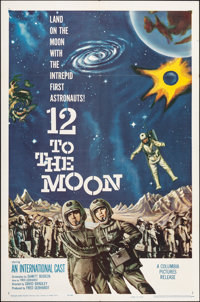 """12 to the Moon (Columbia, 1960). Folded, Very Fine. One Sheet (27"""" X 41""""). Science Fiction"""