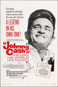 """Johnny Cash! The Man, His World, His Music (Continental, 1969). Folded, Fine/Very Fine. One Sheet (27"""" X 41"""")..."""