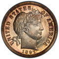 Proof Barber Dimes: , 1897 10C PR67 Cameo PCGS. PCGS Population: (14/3 and 0/1+). NGC Census: (14/3 and 1/0+). PR67. ...