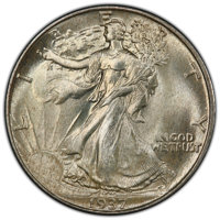 1937 50C MS67 PCGS. CAC. PCGS Population: (159/7 and 26/0+). NGC Census: (79/2 and 9/0+). CDN: $725 Whsle. Bid for NGC/P...