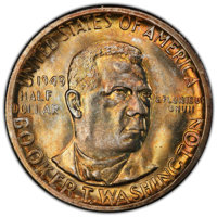 1949-S 50C Booker T. Washington MS66 PCGS. CAC. PCGS Population: (580/81 and 77/4+). NGC Census: (378/58 and 18/3+). CDN...